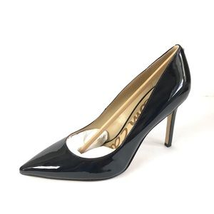 Sam Edelman black patent leather high heels hazel